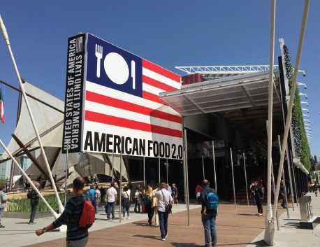 The USA Pavilion at the world's fair in Milan. Photo by Carol Poole
