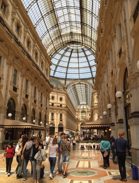 Inside the great Galleria, accessible from the Duomo plaza AH